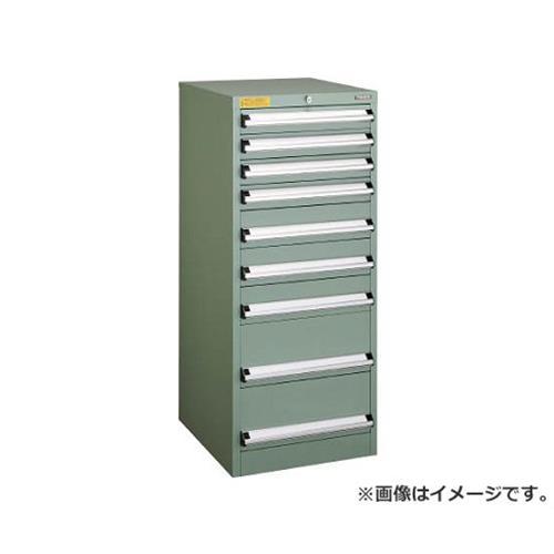 TRUSCO VE5S型キャビネット 500X550XH1200 引出9段 VE5S1204 [r22]