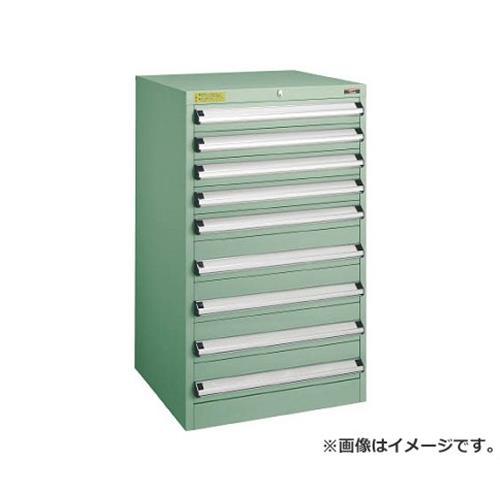 TRUSCO VE6S型キャビネット 600X550XH1000 引出9段 VE6S1006 [r22]