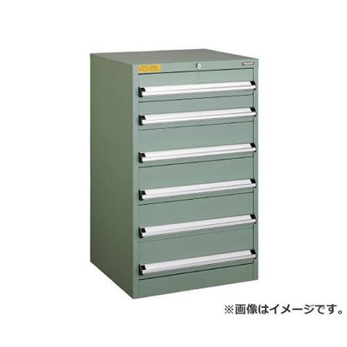 TRUSCO VE6S型キャビネット 600X550XH1000 引出6段 VE6S1007 [r22]