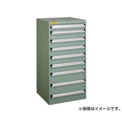 TRUSCO VE6S型キャビネット 600X550XH1200 引出9段 VE6S1202 [r22]