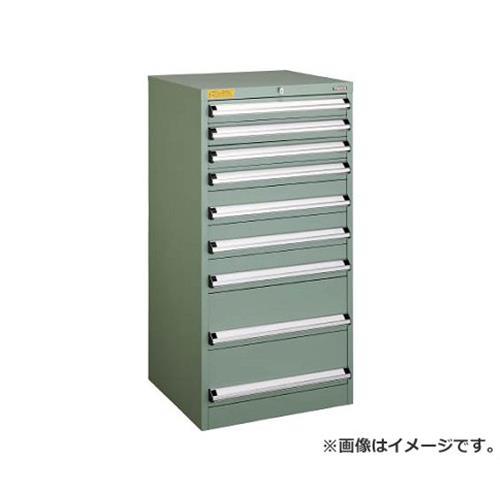 TRUSCO VE6S型キャビネット 600X550XH1200 引出9段 VE6S1204 [r22]