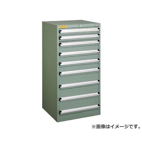 TRUSCO VE6S型キャビネット 600X550XH1200 引出9段 VE6S1207 [r22]