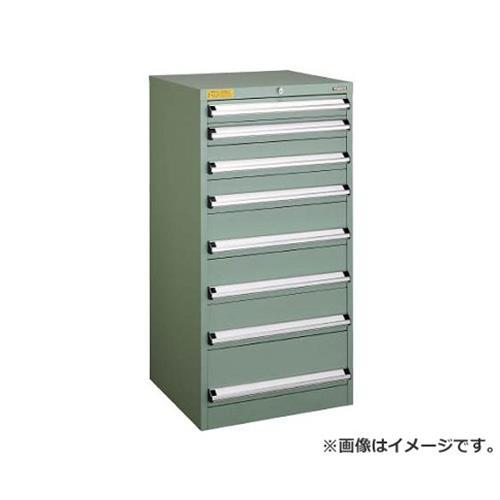 TRUSCO VE6S型キャビネット 600X550XH1200 引出8段 VE6S1208 [r22]