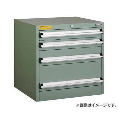 TRUSCO VE6S型キャビネット 600X550XH600 引出4段 VE6S607 [r22]