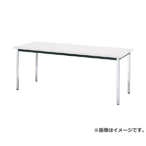 TRUSCO 会議用テーブル 1800X750XH700 角脚 下棚無 ホワイト TD1875W [r20][s9-832]