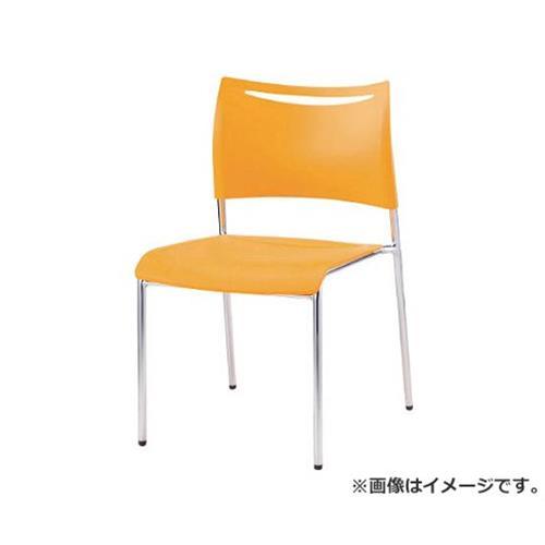 アイリスチトセ ミーティングチェアLTS オレンジ 背・座樹脂 LTS4MZOG [r22]
