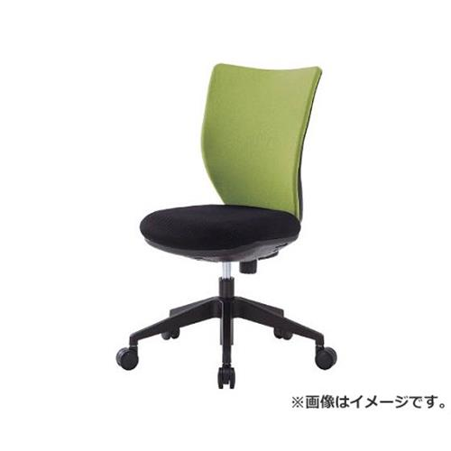 アイリスチトセ 回転椅子3DA ライムグリーン 肘なし 3DA45M0LGN