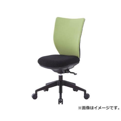 アイリスチトセ 回転椅子3DA ライムグリーン 肘なし シンクロロッキング 3DAS45M0LGN [r20][s9-930]