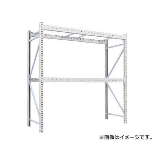 TRUSCO 重量パレット棚1トン2500×900×H2500単体 2段 1D25B25092 [r22]
