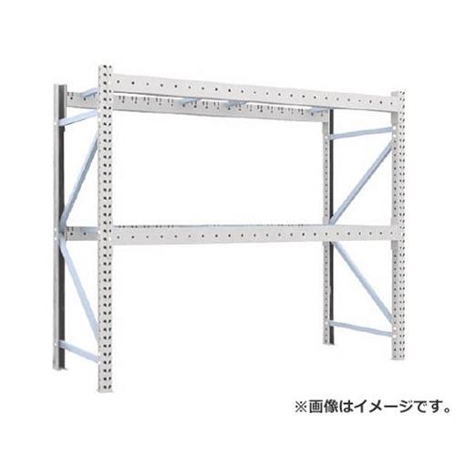TRUSCO 重量パレット棚2トン2300×900×H2000単体 2段 2D20B23092 [r22]