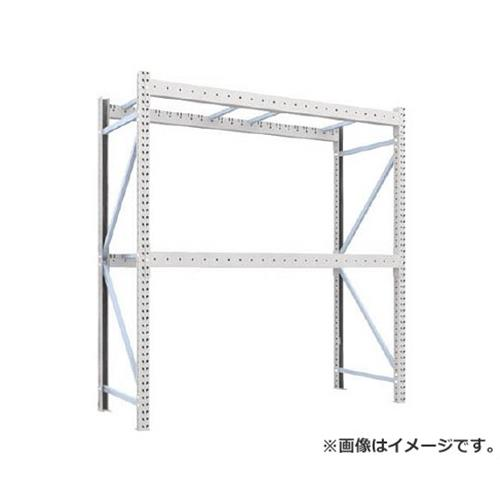 TRUSCO 重量パレット棚2トン2300×900×H2500単体 2段 2D25B23092 [r22]