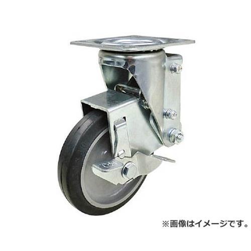 ユーエイ クッションキャスター 125径 自在車 ストッパー付 ゴム車輪 SHSKYS125NRBDS30 [r20][s9-830]