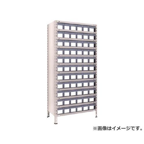 TRUSCO 軽量棚 875X450XH1800 樹脂引出透明 小X66 63X812C11 (NG) [r21][s9-834]