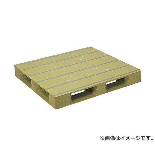 NPC プラスチックパレットZFD-1211E 片面四方差し ライトグリーン ZFD1211ELG [r20][s9-920]