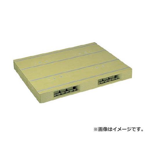 NPC プラスチックパレットZR-1114E 両面ニ方差し ライトグリーン ZR1114ELG [r20][s9-920]