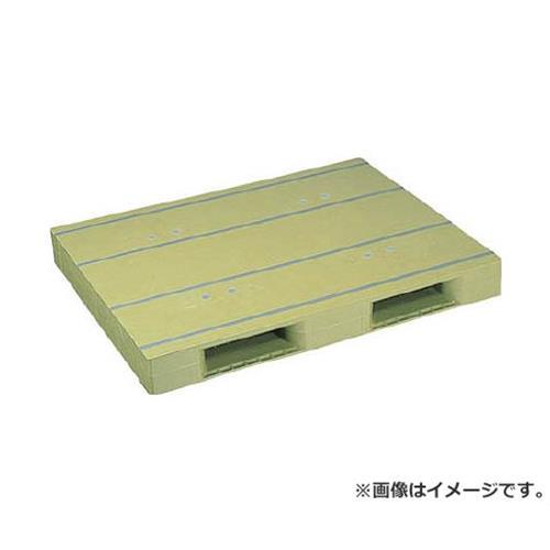NPC プラスチックパレットZD-1114E 片面二方差し ライトグリーン ZD1114ELG [r20][s9-920]