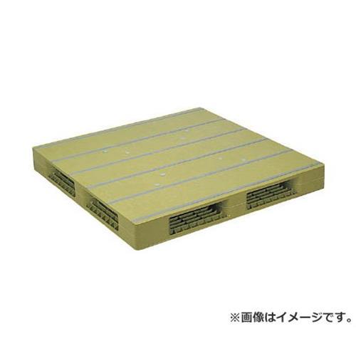 NPC プラスチックパレットZFR-1212E 両面四方差し ライトグリーン ZFR1212ELG [r20][s9-910]