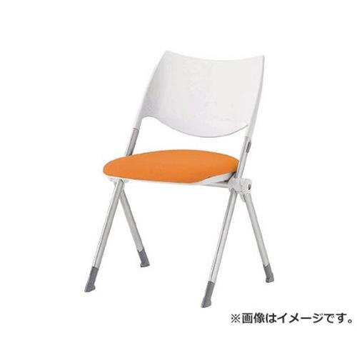 アイリスチトセ ミーティングチェア WSX-02 オレンジ WSX02FOG [r22]