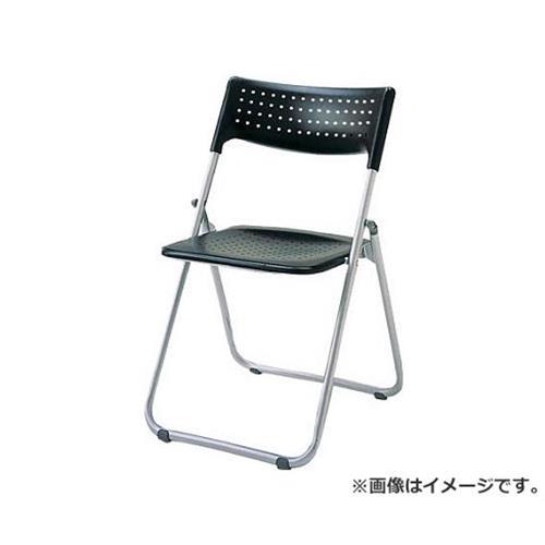 アイリスチトセ アルミ折りたたみ椅子(スタッキング) アルミパイプ ブラック SSA027BK [r20][s9-900]