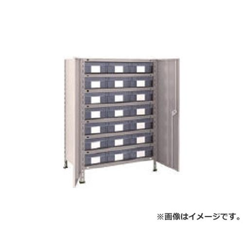 TRUSCO 軽量棚扉付 875X533XH1200 樹脂引出透明 大X21 43XT808D7 (NG)