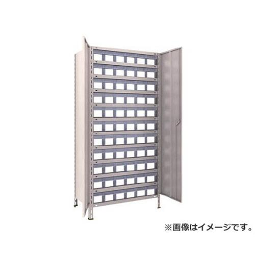 TRUSCO 軽量棚扉付 875X533XH1800 樹脂引出透明 小X66 63XT812C11 (NG)