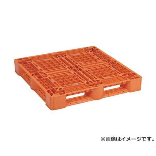 NPC プラスチックパレットSLA1111 片面四方差し オレンジ SLA1111OR [r20][s9-910]