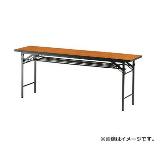 TRUSCO 折りたたみ会議テーブル 1800X600XH700 チーク TCT1860 (T) [r20][s9-830]
