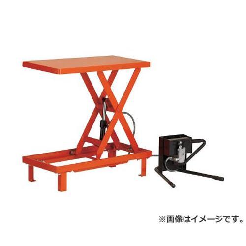 TRUSCO ワークテーブルリフト150kg 足踏式 400X720 HLFWS150 [r22]