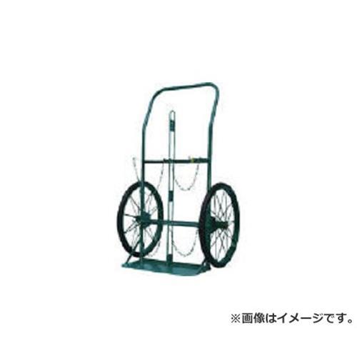 KS ボンベ運搬車(大車輪型)酸素7000L容器、アセチレン7.0kg容器用 KUO [r22]