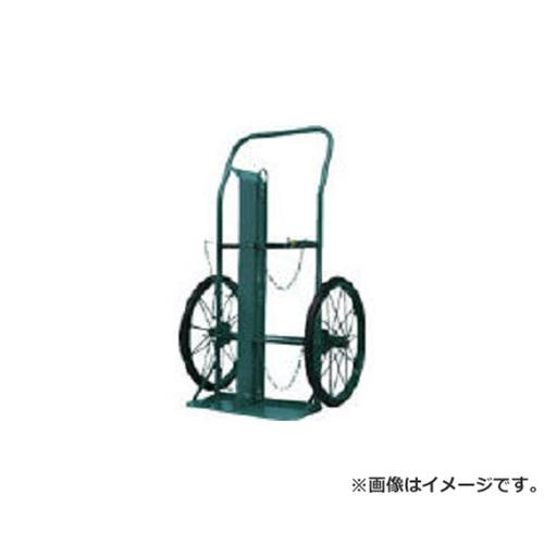 KS ボンベ運搬車(大車輪型、仕切板付)酸素7000L、アセチレン7.0kg用 KUOP [r22]