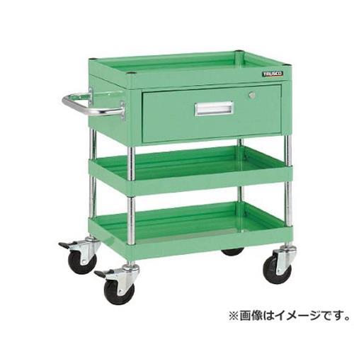 TRUSCO ファルコンワゴン600X400 1段引出付 ゴム車輪 YG色 FAW763VYG [r20][s9-920]