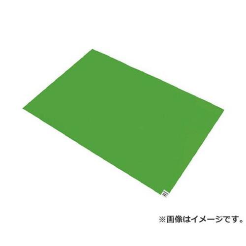 TRUSCO 粘着クリーンマット 600X900MM グリーン 10シート入 CM609010GN 10枚入 [r20][s9-910]