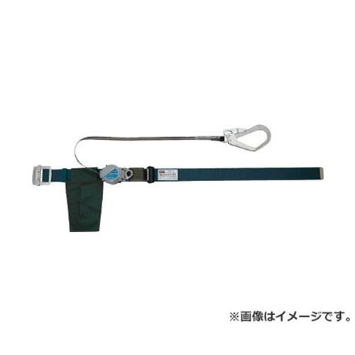 TRUSCO 巻取り式2WAY安全帯 1本つり専用 アルミ製バックル 青緑 TSB59ABG [r20][s9-910]