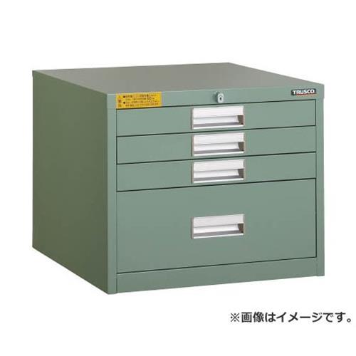 TRUSCO LVE型キャビネット 500X550XH420 引出4段 LVE421 [r22]