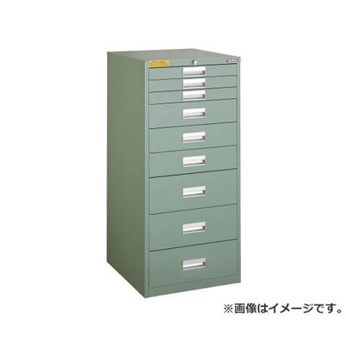TRUSCO LVE型キャビネット 500X550XH1100 引出9段 LVE1104 [r22]