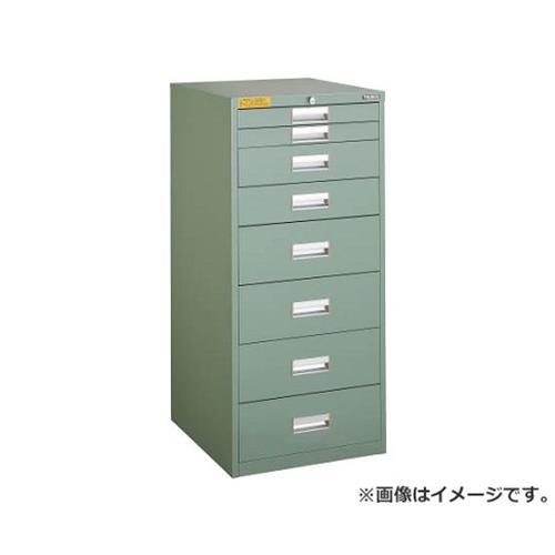 TRUSCO LVE型キャビネット 500X550XH1100 引出8段 LVE1105 [r22]