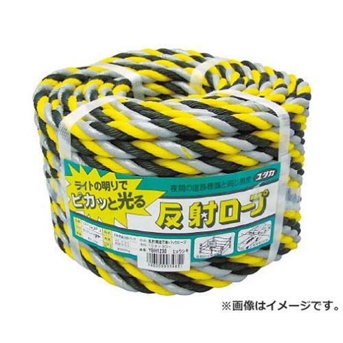 ユタカ ロープ 反射標識万能パックロープ 12φ×30m ヒョウシキ YBH1230 [r20][s9-910]