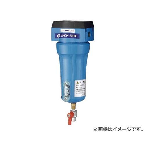 日本精器 高性能エアフィルタ10A3ミクロン(ドレンコック付) NICN110ADLDV [r20][s9-910]