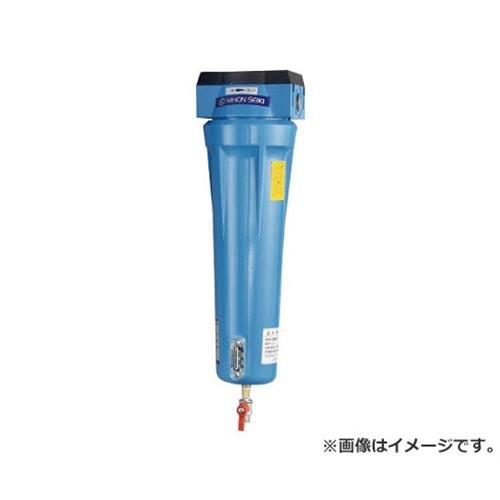日本精器 高性能エアフィルタ25A0.01ミクロン(ドレンコック付) NIAN525ADLDV [r20][s9-910]