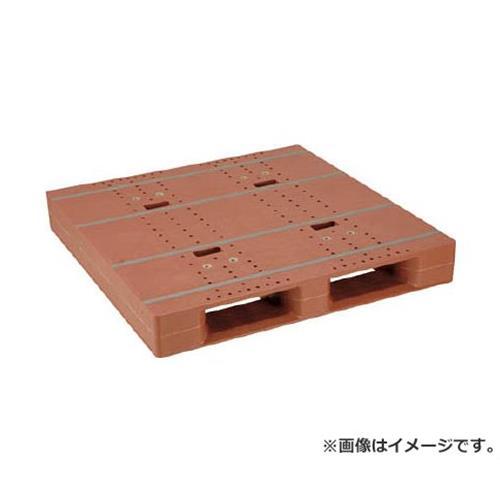 NPC プラスチックパレットZD-1111E 片面ニ方差し ブラウン ZD1111EBR [r20][s9-910]