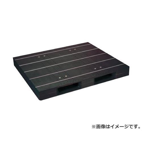 NPC プラスチックパレットZD-1315E-RR 片面二方差し 黒 ZD1315ERRBK [r20][s9-920]