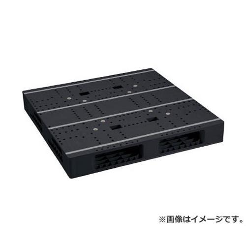 NPC プラスチックパレットZFR-1111E-RR 両面四方差し 黒 ZFR1111ERRBK [r20][s9-910]