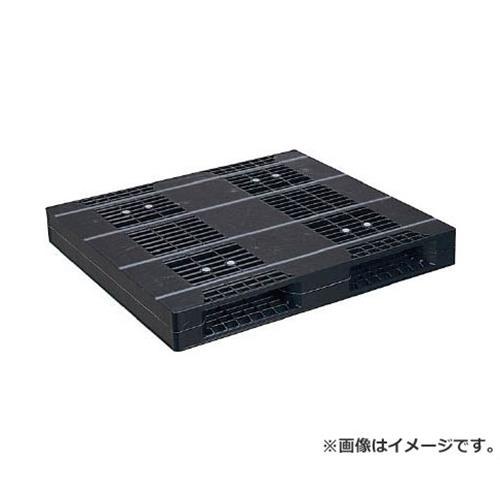 NPC プラスチックパレットZR-110120E-RR 両面二方差し 黒 ZR110120ERRBK [r20][s9-910]