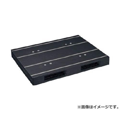 NPC プラスチックパレットZR-1114E-RR 両面ニ方差し 黒 ZR1114ERRBK [r20][s9-920]