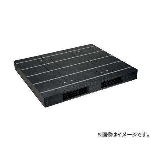 NPC プラスチックパレットZR-1315E-RR 両面二方差し 黒 ZR1315ERRBK [r20][s9-920]