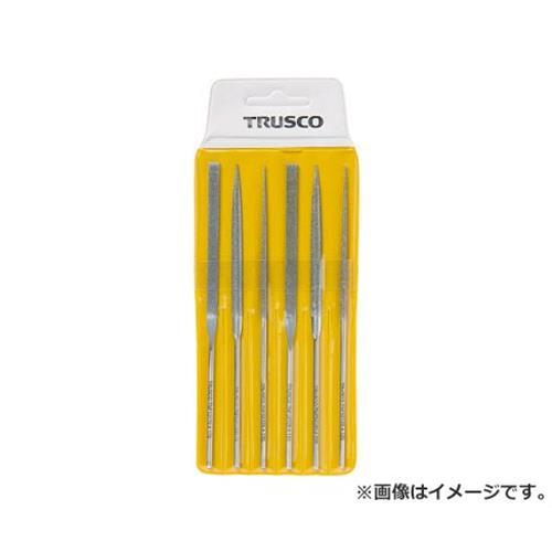 TRUSCO ダイヤモンドニードルヤスリ 平・半丸・丸 6本組セット TNFS1 [r20][s9-910]