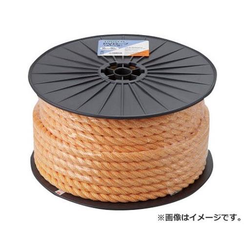 TRUSCO PVロープ 3つ打 線径16mmX長さ50m R1650PV [r20][s9-910]