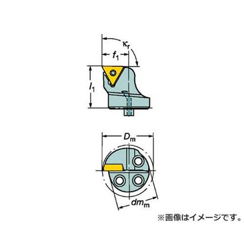 サンドビック コロターンSL コロターン107用カッティングヘッド 570STFCR1611B1 [r20][s9-920]