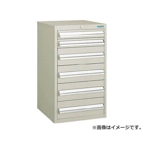 TRUSCO LVR型キャビネット 392X412XH660 引出6段 NG LVR662 (NG) [r20][s9-832]