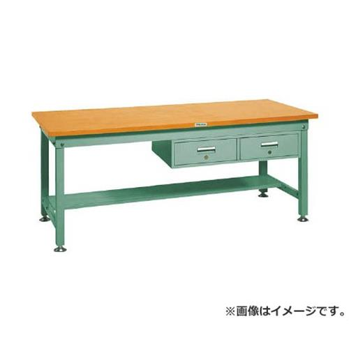 TRUSCO HW型作業台 1800X750XH740 2列引出付 HW1800FL2 (GN) [r21][s9-930]